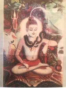 Shiva, painted by Dr Ahsen